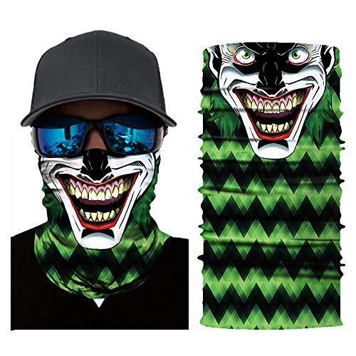 mxjeeio Multifunktionstuch Handzeichnung Tattoo Totenkopf Schlauchtuch Schal Halstuch Kopftuch Microfaser fürs Motorrad-, Fahrrad- und Skifahren