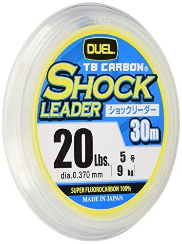 DUEL(デュエル) フロロライン 20Lbs. TB CARBON ショックリーダー30m 20Lbs. ナチュラルクリア H3506