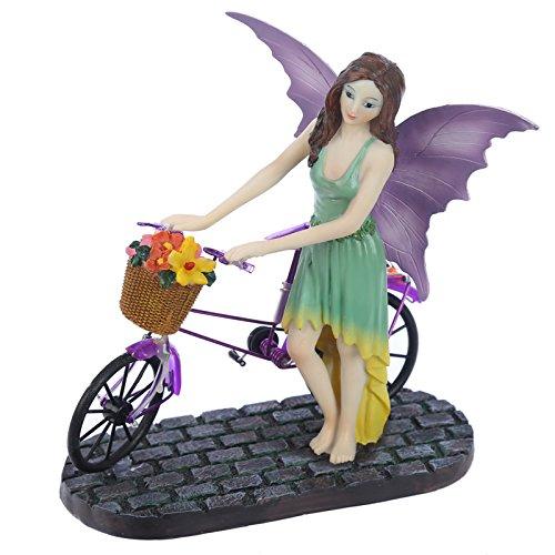 Puckator FYP149 Figura Aurora Bicicletta Bicicletta Poliresina, Grigio, Nero, Verde, Rosa, Beige, Marrone, 20,5 x 15 x 21,5 cm