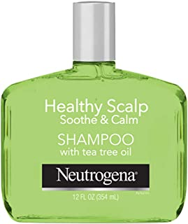 Neutrogena Soothing & Calming Healthy Scalp Shampoo to Moisturize Dry Scalp & Hair, with Tea Tree Oil, pH-Balanced, Paraben-Free & Phthalate-Free, Safe for Color-Treated Hair, 12oz
