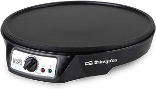 Orbegozo CM 2360 - Crepera eléctrica, superficie antiadherente de 30 cm de diámetro,  temperatura regulable, 1000 W de potencia