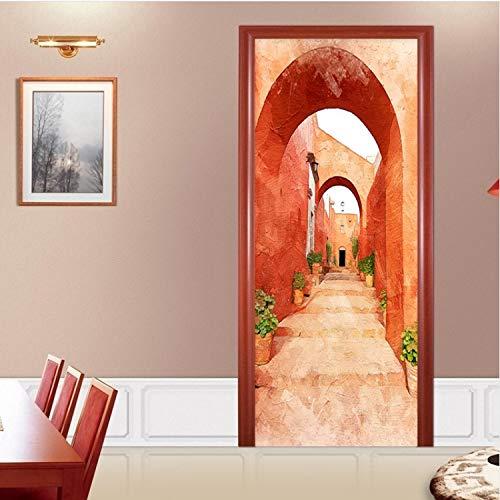 KNFLURNN Autocollant Moderne Creative Bricolage Couloir Papier Peint PVC Autocollant Étanche Restaurant Salon Maison Porte Stickers Autocollants 200 * 77 Cm