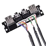 1Audio Cable PC Computer Case PCB Front Panel USB 2.0 Audio Port Mic Cable Motherboard Connection Cable
