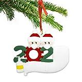 BOIROS Adornos de Navidad 2020 Decoraciones para Arboles de Navidad Decoracion Navidad Hogar Decoraciones navideñas 2020 Adornos Navidad Colgantes Adorno de Familia Sobrevivido (2 Cabezas)