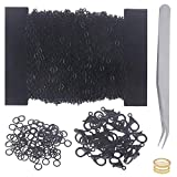 Jewelry Chains for Making Jewelry, 39 Feet Stainless Steel Chains with 100Pcs Jump Rings and 30Pcs Lobster Clasps for Jewelry Necklace and Bracelet Making (Black)
