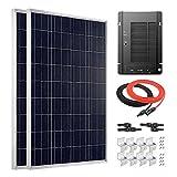 Giosolar Kit de Panel Solar de 200 W 12 V policristalino con Control de Carga MPPT 40A para Caravana y Caravana RV y Autocaravana