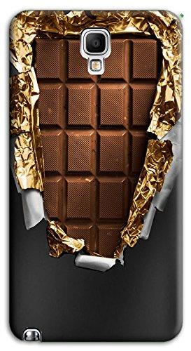 Mixroom - Cover Custodia Case in TPU Silicone Morbida per Samsung Galaxy Note 3 III Neo N7505 Y386 Tavoletta di Cioccolata