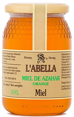 Orangenblütenhonig aus Spanien - Orangenhonig - Premium Qualität - Naturprodukt - kaltgeschleudert- unfiltriert- fruchtiger Geschmack der Zitrusfrucht, Größe:500 ml, Geschmack:Orange