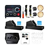 TEKCHIC Pro1 Professional Wood Burning Kit with 2 Woodburners for Wood Burning Pyrography with 20 Wire Nibs Tips Including Ball Tips(with Case)