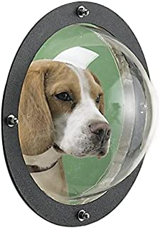 """Joyfay Fence Window- Clear Durable Acrylic Dome Window, Easy to Install 9.5"""" Diameter Dome for Dogs"""