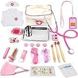 Sundaymot Arztkoffer für Kinder - 32-teiliges Medizinisches Spielzeug Rollenspiel Set, Doktor Spielset Kit mit Stethoskop, Geschenk für Mädchen ab 3 Jahren