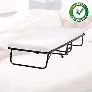 BestMassage folding Potable 25D Comfort Foam Mattress L75W30L12 Inch Guest Bed,White