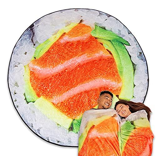 TILTECH Sushi Blanket - Giant 6 Foot Food Throw Blanket - Soft & Warm Flannel, Fun & Cute, Funny Gag...