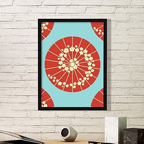 DIYthinker Sakura Paraplu Bloemen Patroon Japan Eenvoudige fotolijst Kunst Prints Schilderijen Thuis Muursticker Gift