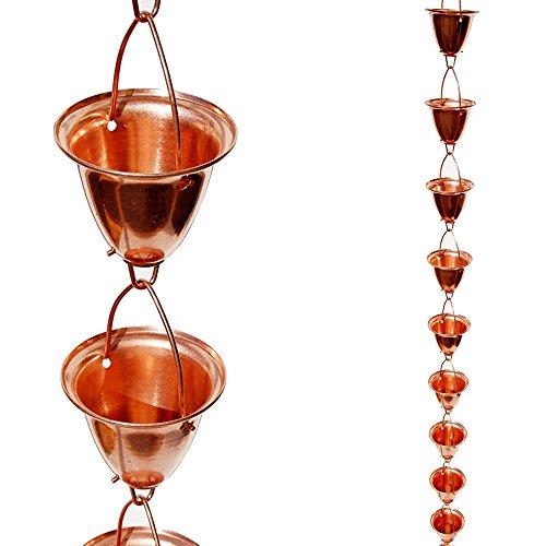 Stanwood OT-RC6 Regenketteaus großen Kupfer-Schalen/-Glocken, 2,44 m