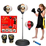 VIPER Children Kids Punching Boxing Speed Ball fitness Free Standing Bag Tumbler Agility Stand Boy Sandbag Boxing Gloves Set Sport Toy Boxing Punch Bag For Kids