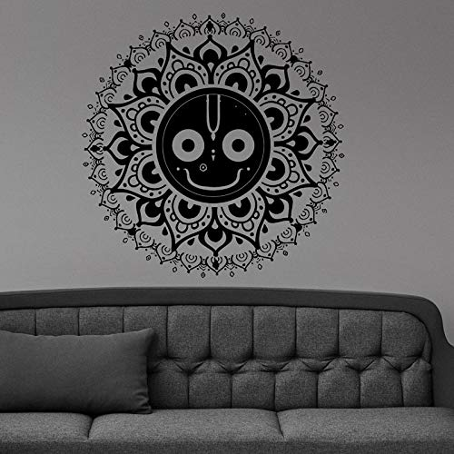 Sanzangtang Mandala Glimlach gezicht muur vinyl sticker kamerdecoratie applicatie slaapkamer decoratie patroon waterdicht