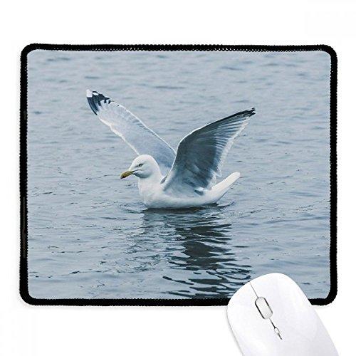 DIYthinker oceaan water zee vogel wetenschap natuur foto antislip muismat spel office zwart teef randen gift