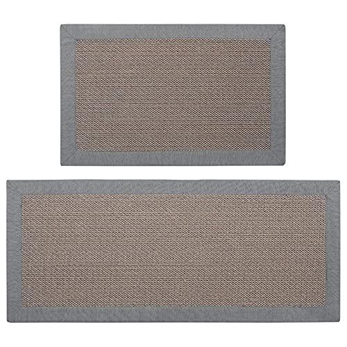 VEUL Estera antideslizante larga del piso de la estera de la cocina del material del lino del hogar,