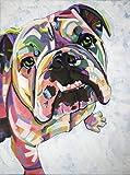 Wzjxzsynl Malen nach Zahlen Aquarell englische Bulldogge DIY digitales malen nach Zahlen Moderne wandkunst leinwand malerei Geschenk für Kinder wohnkultur
