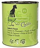 Dogz finefood - Cibo umido per cani – N° 4 pollo & fagiano – cibo umido per cani e cuccioli – senza cereali e senza zucchero – Alta percentuale di carne, 6 x 800 g