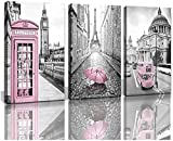 XIAOMA Leinwand Schwarz Weiß Paris Tower Bilder London Big