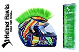 Helmet Hawks Motorcycle Helmet Mohawk w/Sticky Hook and Loop Fastener Adhesive - Fluorescent Lime Green