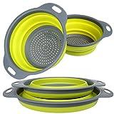 2piezas de silicona plegable Kitchen Craft–Escurridor Colador de filtro para el lavavajillas drenaje de fruta y verdura con asas, incluye 2cestas tamaño: 11.5'y 9.7'