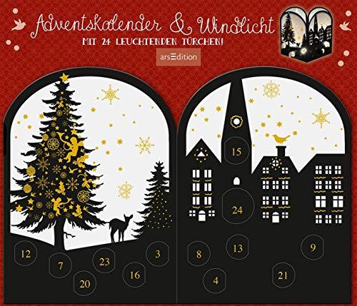 Abendstunde: Scherenschnitt-Kerzenschirm Stadtmotiv (Adventskalender)