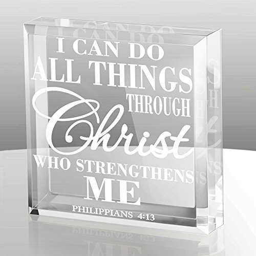 KATE POSH - Philippians 4:13 - I can do All Things Through Christ who Strengthens me Keepsake & Paperweight
