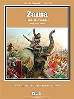 DG: Zama, Hannibal vs Scipio, 19 October 202BC Folio Boardgame