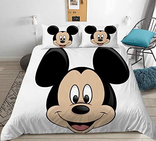 Dibujos animados para niños 3D anime Mickey Mouse funda nórdica juego de cama, dormitorio de niño niña cama doble individual funda edredón ropa de cama textiles para el hogar-G_228x228cm (3pcs)