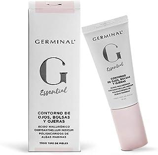 Germinal Essential Contorno de Ojos Bolsas y Ojeras - Crema Facial Revitalizadora de Ácido Hialurónico y Cafeína encapsul...