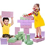 Cardboard Blocks, EP EXERCISE N PLAY Jumbo Giant Building Blocks Stackable Bricks STEM Construction Toy for Toddlers Kids (40 Piece)