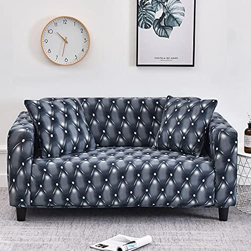 WXQY Fundas de sofá de Estilo Bohemio elástico Funda de sofá elástica protección para Mascotas Funda de sofá Esquina en Forma de L Funda de sofá con Todo Incluido A16 2 plazas