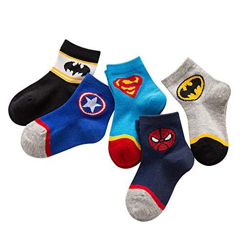 HIMB Calcetines Finos Para Nios Superhero Kids Calcetines Unisex 12-20cm 12-14cm...