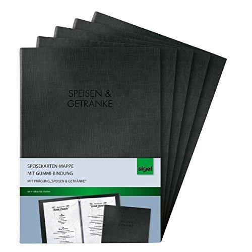 Sigel SM111/5 - Plantilla para premios y certificados (5 unidades), negro