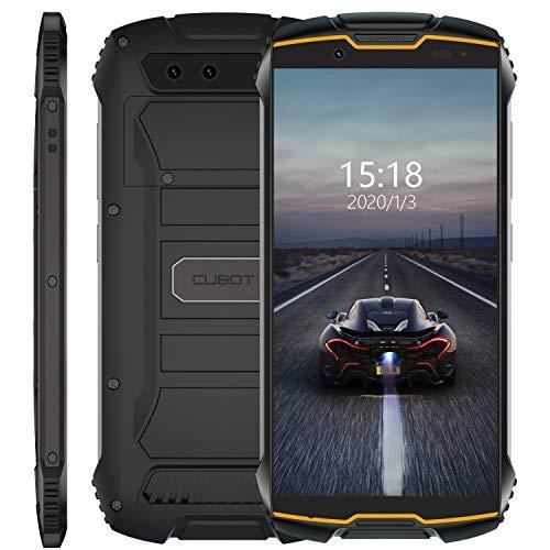 Cubot Kingkong Mini 4G Outdoor Smartphone ohne Vertrag, 4 Zoll Display Dual SIM Handy Wasserdicht, Stoßfest und Staubdicht, 3GB+32GB, Android 9, GPS+Kompass, 8MP Frontkamera/13MP Hauptkamera (Orange)