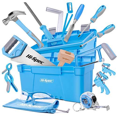 Hi-Spec 25-teiliges Werkzeugset für Anfänger mit Werkzeugkasten, Holzschnitzwerkzeug, Holzmeißel...