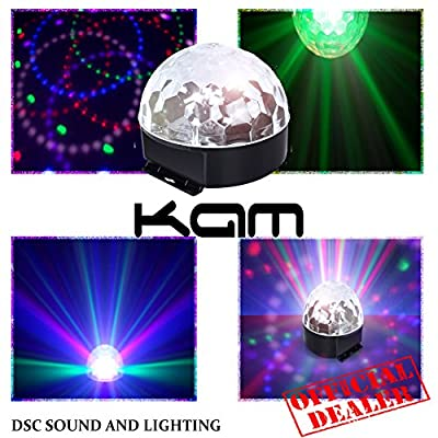 KAM Moonglow ECO | LED 6 Colour Disco Fortune Ball | DJ Lights | Mirrorball FX
