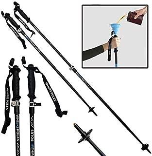 WhiSki Poles Trekking/Hiking/Ski Pole with Integrated Flask - Adjustable & Lightweight - Telescopes 36