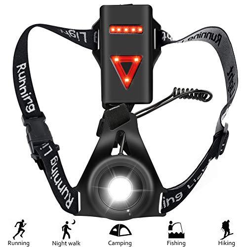 Hospaop Sports Lauflicht Running Light,Wasserdicht Leichtgewichtige Lampe zum Laufen, Einstellbarer Abstrahlwinkel, perfektes Licht zum Joggen, Angeln, Fahrt,Campen, für Kinder und mehr (Schwarz1)