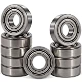 10 PCS R4-ZZ(1/4 x 5/8 x 10/51 inch) Premium Double Metal Shielded Radial Ball Bearing - Deep Groove Bearing - High Speed - Compatible for Electric Motor Applications