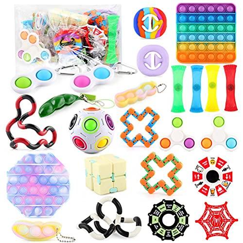 Fidget Toy Set, Juguetes Sensoriales Fidget, Juguetes de Mano Anti Ansiedad para Apretar, El autismo Necesita Juguetes Antiestrés para Aliviar la Ansiedad, Surtido de Juguetes de Descompresión