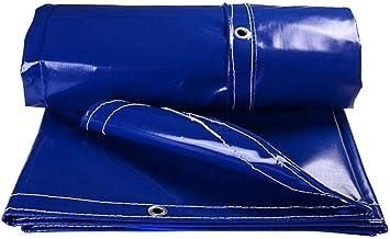 FENGMING-yb Luifels Tarpaulin Blauw Tarp Met Grommets Auto Boot Dak Regenhoes Tarp Sheet Pool Cover Dekzeil (Kleur: Blauw,...