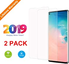 Kacul Screen Protector Compatible with Samsung Galaxy S10(2 Pack) Case-Friendly Ultrasonic Fingerprint Compatible 3D Curved Tempered Glass