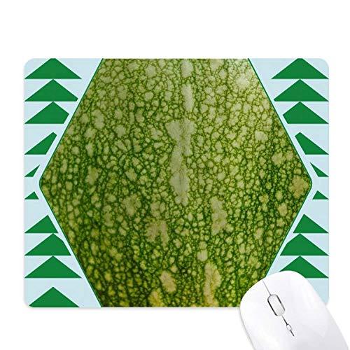 Groene pompoen schil Macro foto patronen muismat groene dennenboom rubberen mat