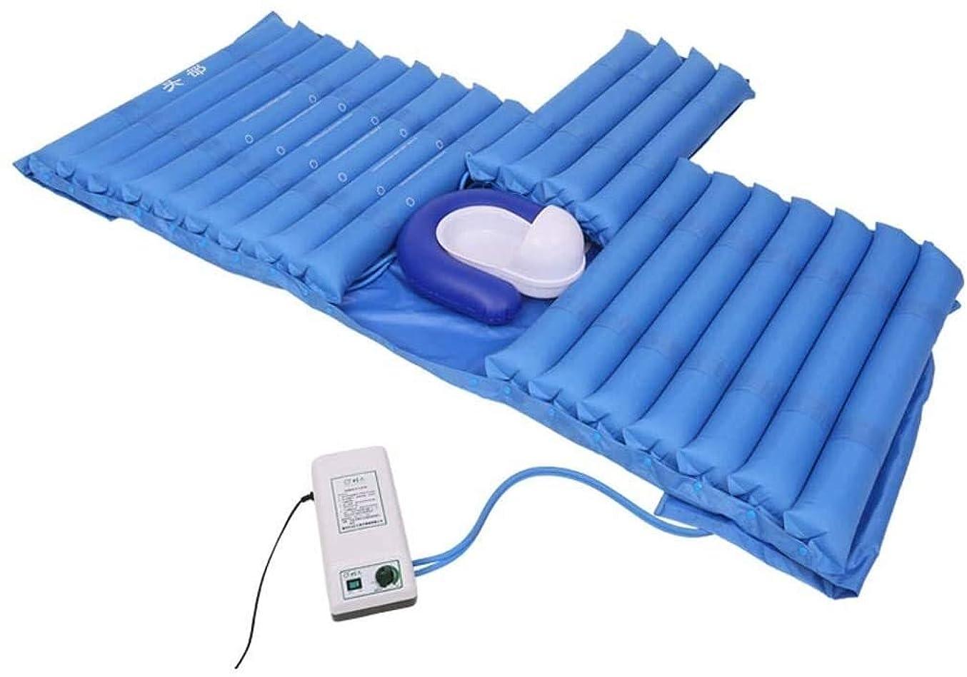 禁止温度計読むアンチ褥瘡エアマットレス、床ずれ、潰瘍予防、インフレータブル用エアトッパーパッドは、病院のベッドに適合 - 電動ポンプシステムとトイレが含まれてい (Size : Toilet Hole+Sleep+Bedpan)