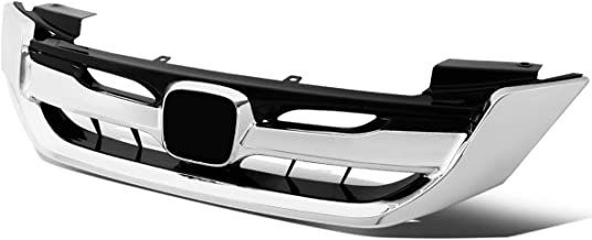 Chrome RS Sport Style Front Bumper Upper Grille for 13-15 Honda Accord Sedan