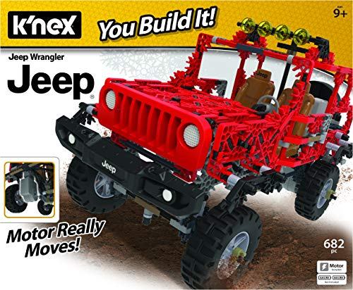 K'nex Jeep Wrangler Building Set - 682 Parts - Authentic Battery Powered Motorized Replica - STEM Toy - Ages 7 & Up